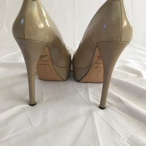 Brian Atwood Shoes - Brian Atwood Platform Pumps (Nude -Size 9)